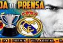 Rueda de prensa de Zinedine Zidane previa al partido ante el Villarreal