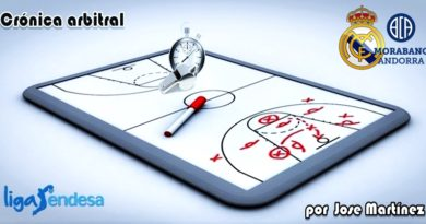 CRÓNICA ARBITRAL | Real Madrid vs Morabanc Andorra | Liga Endesa | Jornada 1