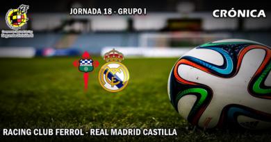 CRÓNICA   El Castilla se acerca a los puestos de Play-off: Racing Club Ferrol 1 – 3 RM Castilla