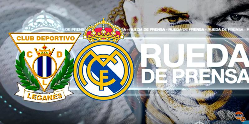 VÍDEO   Rueda de prensa de Zinedine Zidane previa al partido ante el Leganés